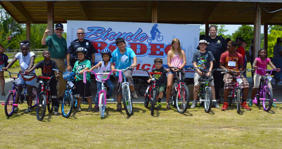 Bicycle Rodeo at Tanyard Creek Park.