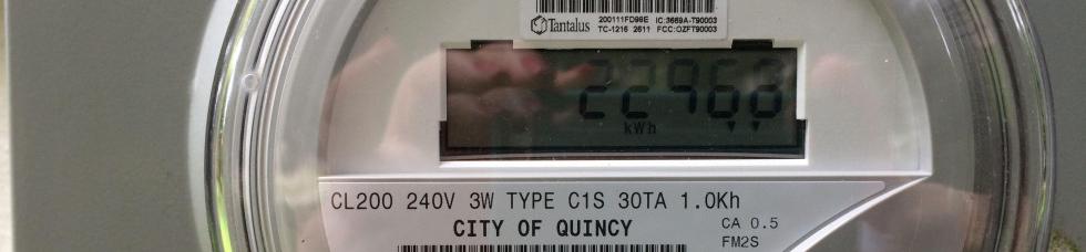 City of Quincy electric meter.